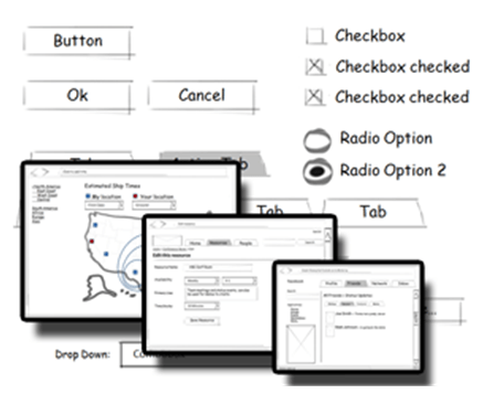 PowerPoint Wireframe Template for UI design