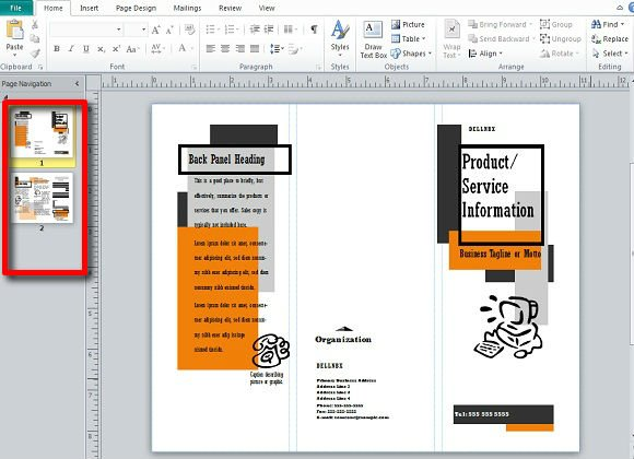 Making And Publishing Brochures With Publisher