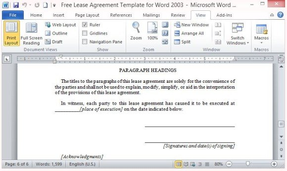 Download printable contract (.doc format) formatted and ready to use with microsoft word, google docs, or any other word processor that can open the.doc file format. Free Lease Agreement Template For Word