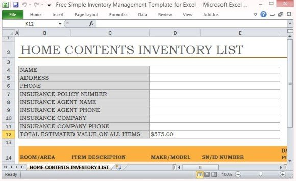 We'll do the easy part first—listing your initial inventory. Free Simple Inventory Management Template For Excel