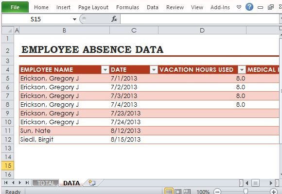It is difficult to remember each and every minute detail of when an employee takes off from work or the purpose of time off and the task becomes. Free Employee Absence Tracker For Excel