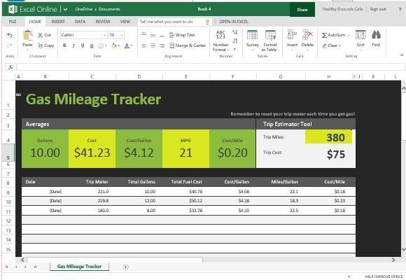 car gas mileage tracker