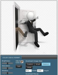 Getting Kicked Out Of The Door Clipart For PowerPoint