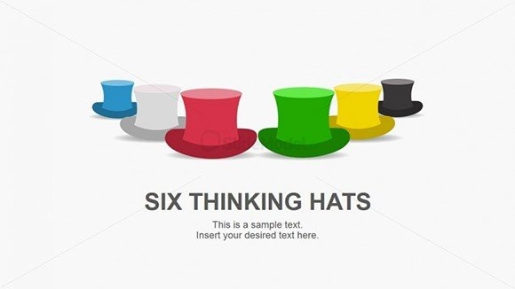 Best Six Hat Thinking PowerPoint Templates