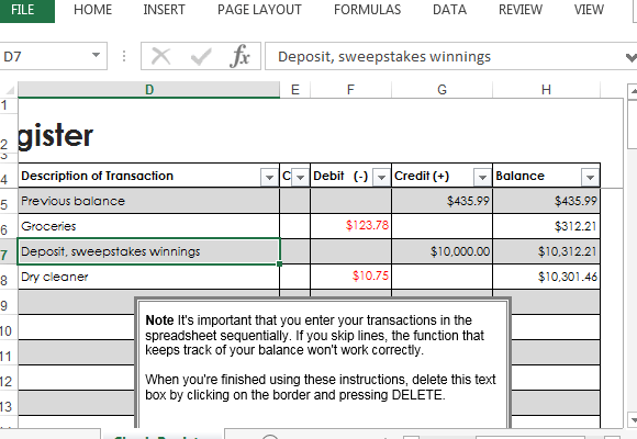 Download the checkbook register template and print it out blank to have a printable checkbook register on the go. Check Register Template For Excel