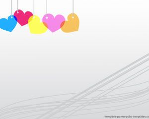 Colorful hearts PowerPoint Template