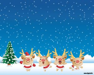 Snowy Christmas PPT