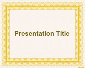 basic frame powerpoint template
