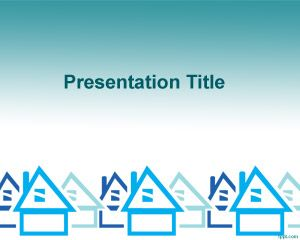 Free House Real Estate PowerPoint Template
