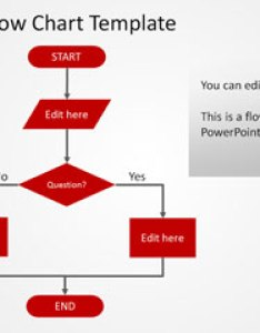 Simple red flowchart powerpoint template also free flow chart templates rh power point