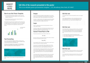 poster template design for powerpoint
