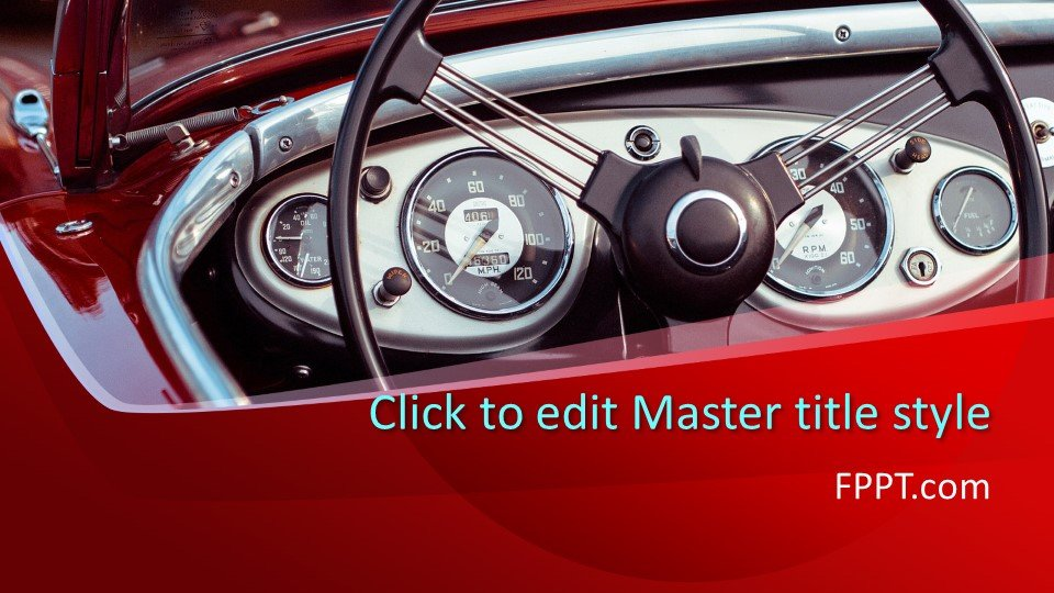 Free Classic Car PowerPoint Template Free PowerPoint