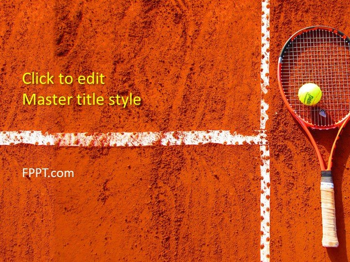 Free Tennis Ball PowerPoint Template