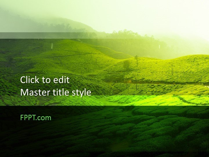 Free Green Design Powerpoint Template Free Powerpoint