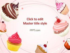 Free Cupcakes PowerPoint Template Free PowerPoint Templates