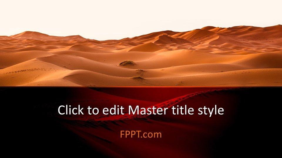 Free Desert Powerpoint Template Free Powerpoint Templates