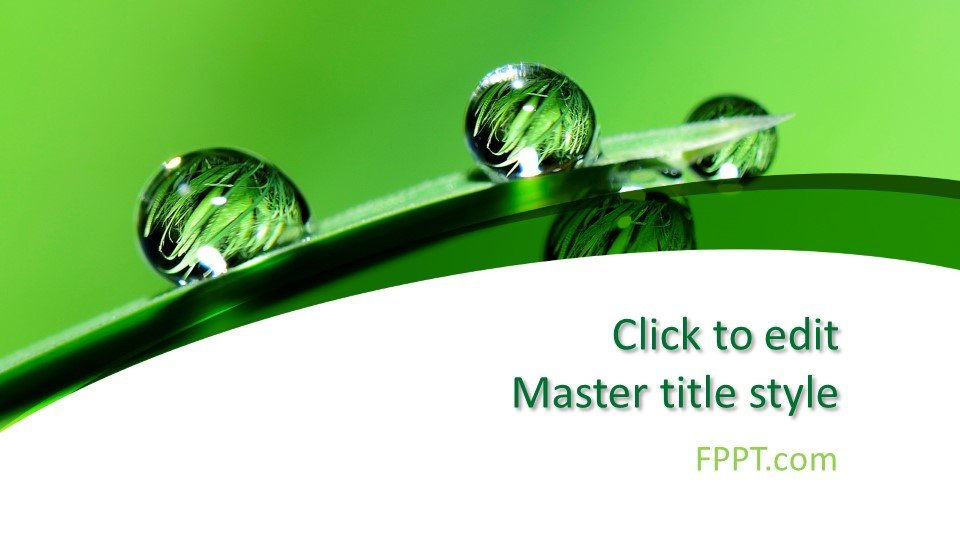 Free Green and White PowerPoint Template - Free PowerPoint Templates