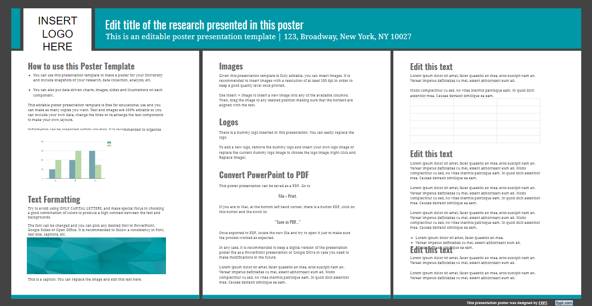 presentation poster templates free