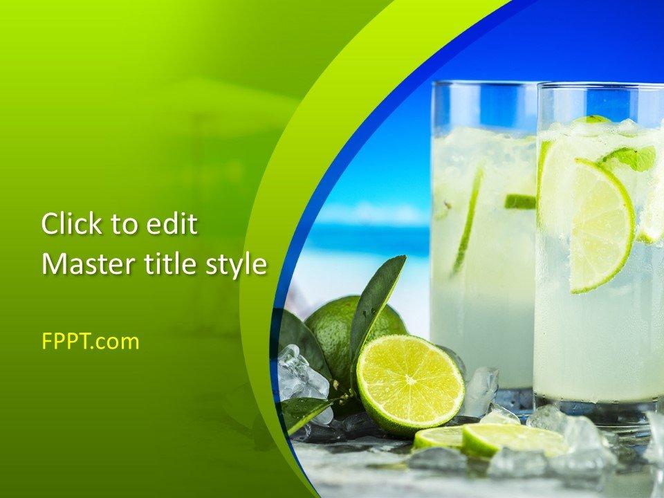 Free Fresh Lemonade PowerPoint Template - Free PowerPoint Templates