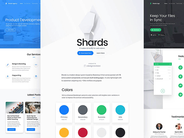 Shards: A modern UI toolkit based on Bootstrap 4