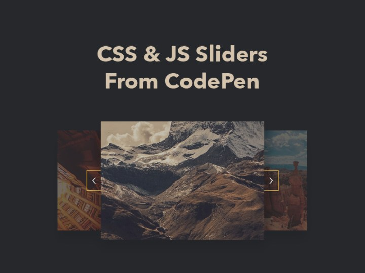 Image Gallery Slider Jquery Codepen | secondtofirst com