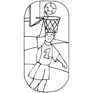 Basketball Score Coloring Sheet