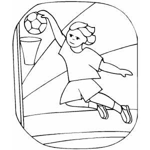 Girl Score Coloring Sheet