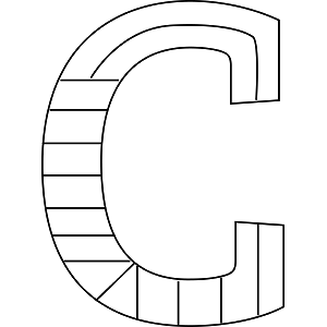 Lower Case Letter C Coloring Coloring Pages
