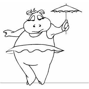 Tightrope Walker Coloring Page