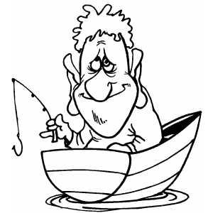Fishing With Small Tackle Coloring Page