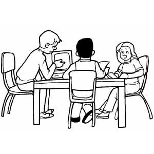 Study Group Coloring Page