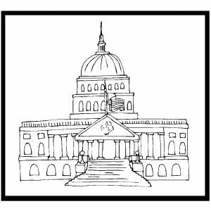 Capitol Coloring Page