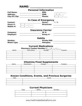 printable medical office forms - April.onthemarch.co