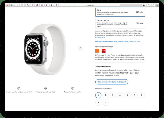 Choisir la taille du bracelet à boucle unique d'Apple