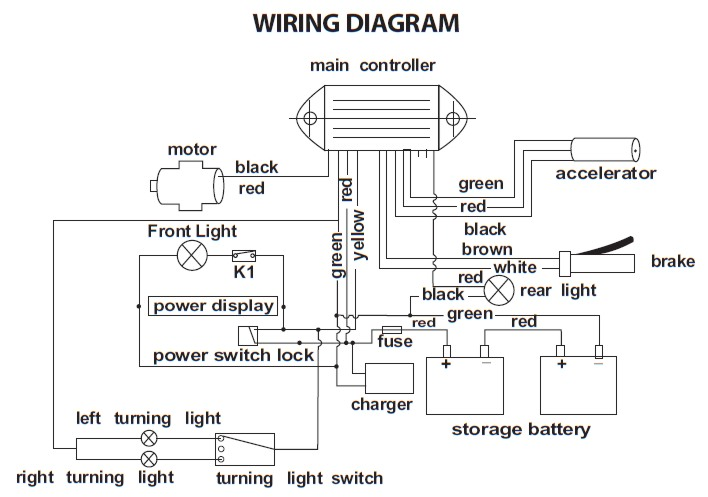 Freedom Scooter 644 Wiring Diagram ElectricScooterParts Com Support