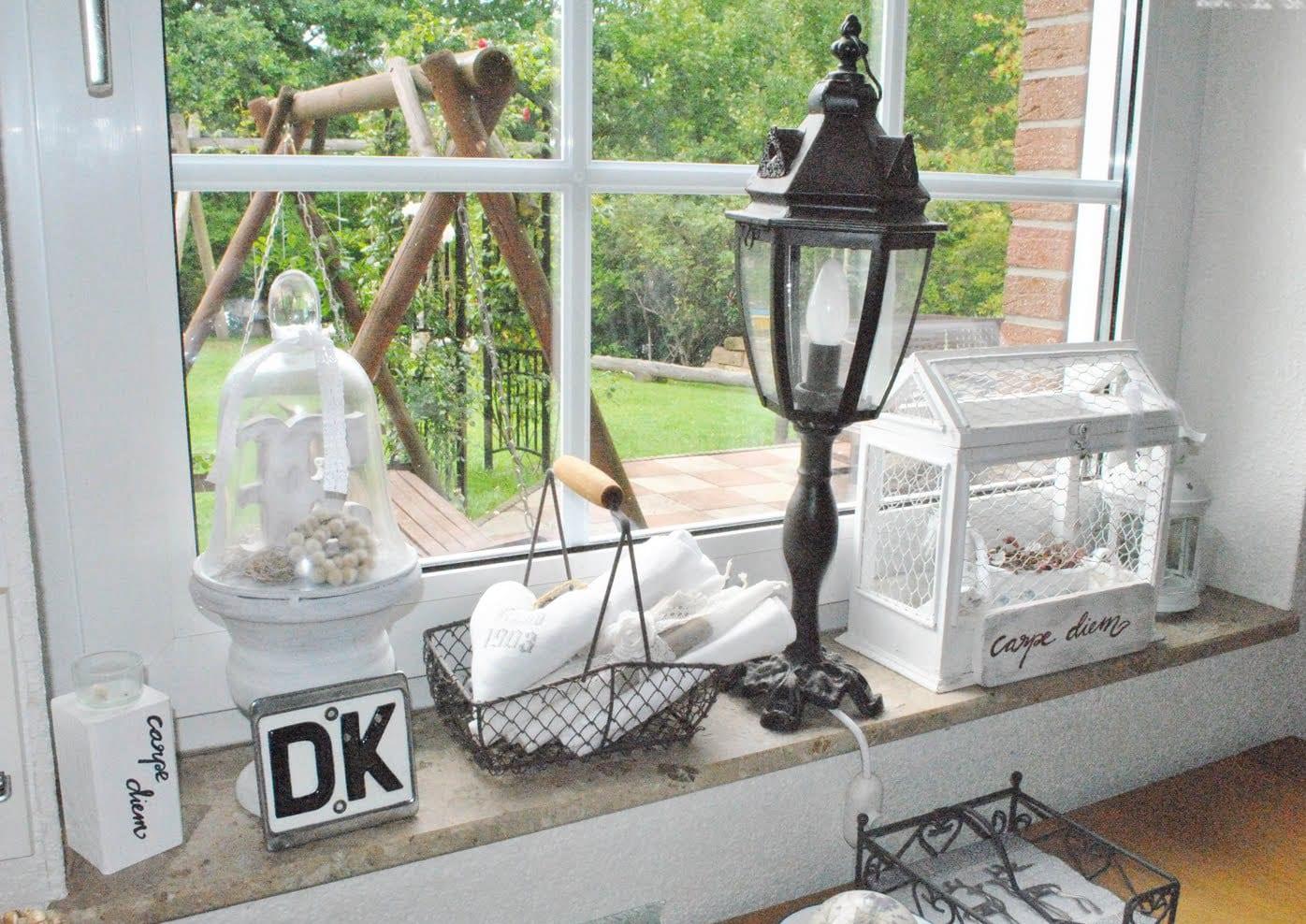 Fensterbank Dekorieren Vintage Terrasse Balkon 39terrasse Am Haus