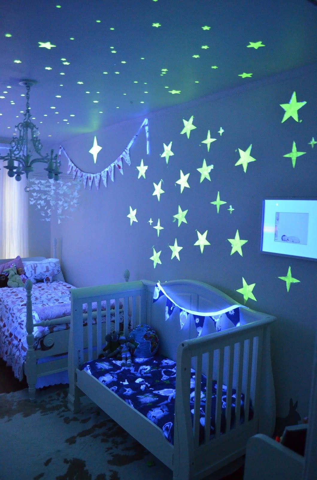 babyzimmer gestalten mit phosphor sternen  fresHouse