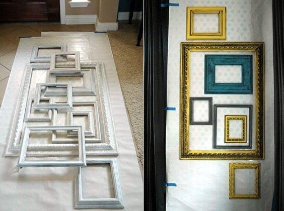 bilderrahmen dekorierenwanddeko selber machen  fresHouse