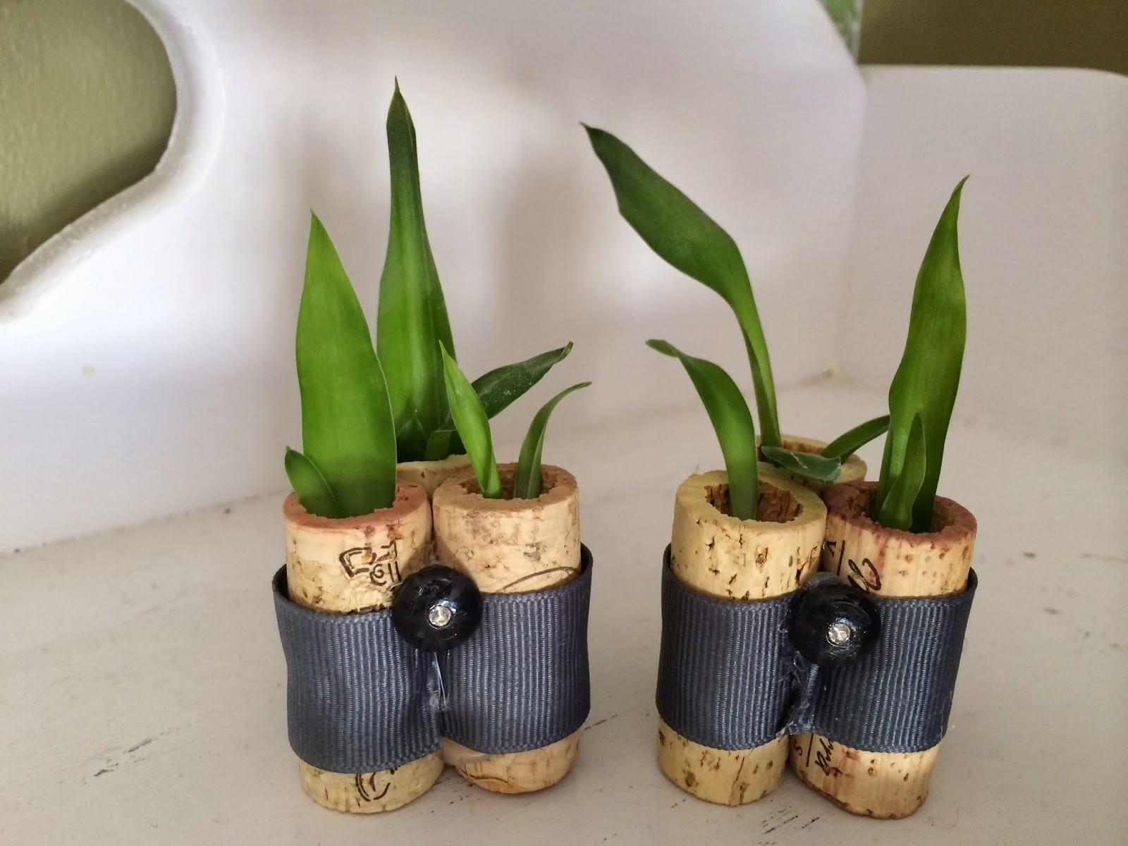 deko selber machenkorken planters  fresHouse