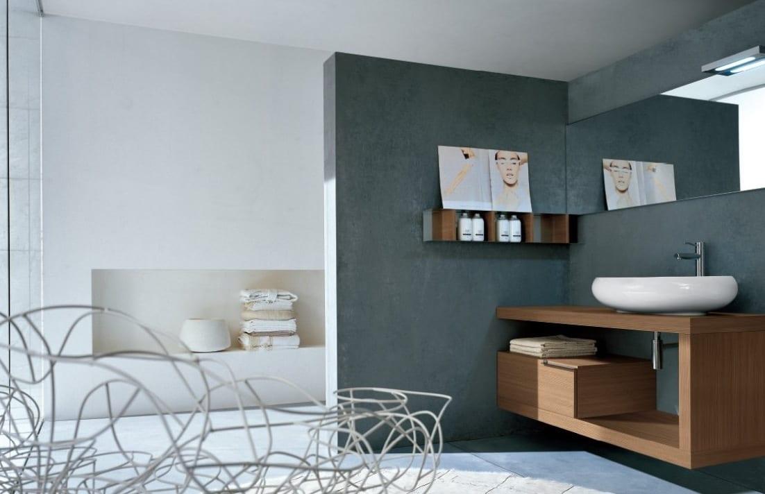 farbgestaltung badezimmerwandfarbe grau  fresHouse