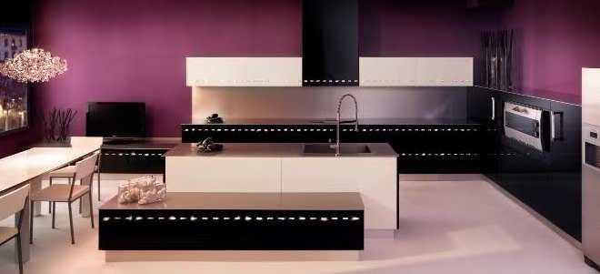moderne kche wandfarbe violett  fresHouse
