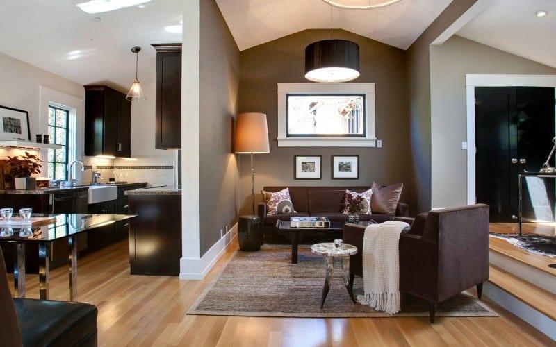 Wandfarbe Braunwohnzimmer Design Freshouse