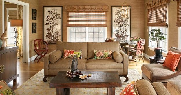 wohnzimmer braunwandfarbe braun beige  fresHouse