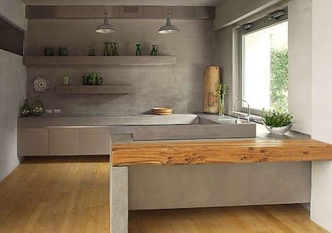 kche interior aus betonkchenarbeitsplatte aus beton