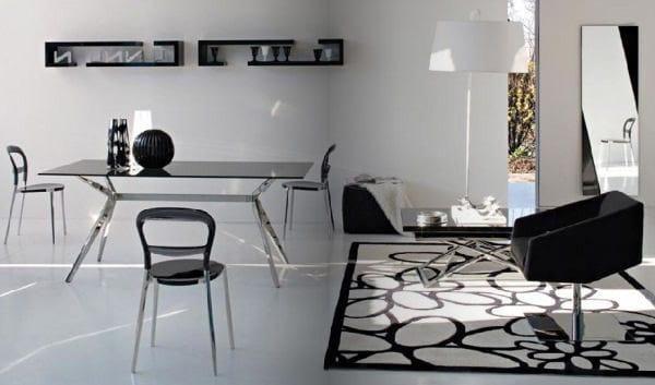 schwarz weie wohnzimmer moderne raumgestaltung  fresHouse