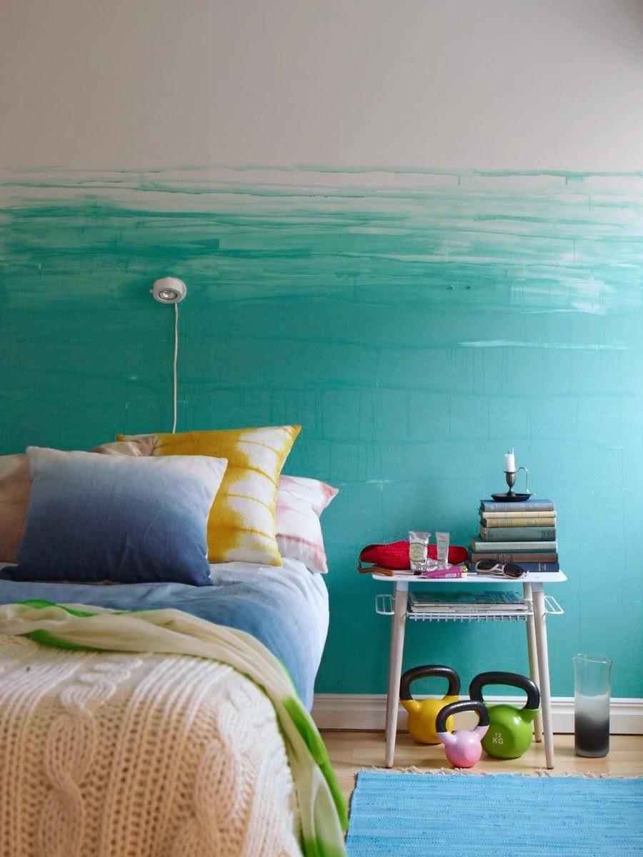 Blau Grau Wandfarbe Schlafzimmer Wandtattoo Zuhause Von Wandtattoo Net