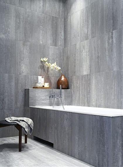 badezimmer grau mit wandverkleidung aus naturstein  fresHouse