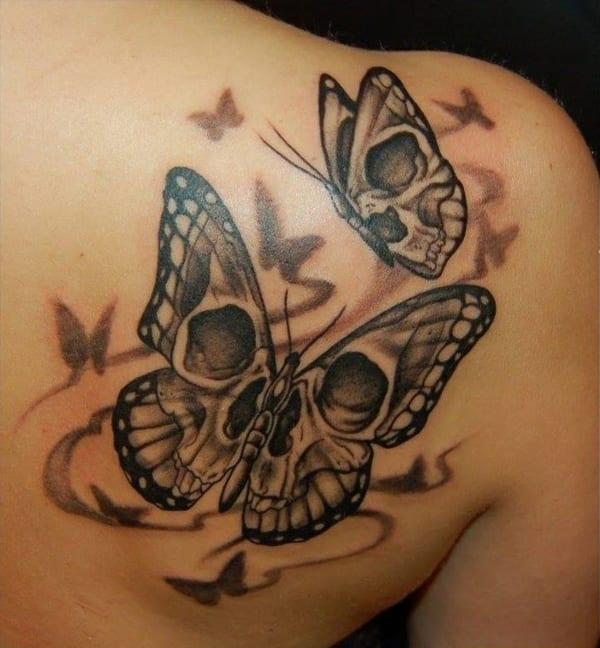 coole tattoo idee rcken mit schmetterlingen tattoo  fresHouse