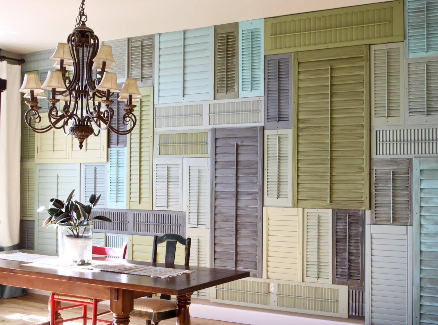 Ideen Fur Wandgestaltung Mit Alten Fensterladen
