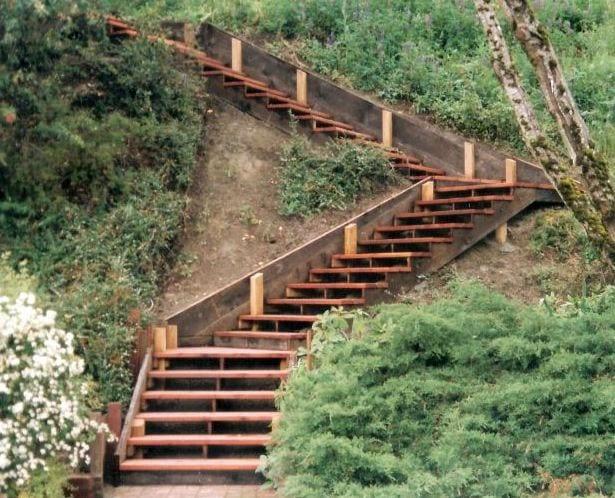 Gartentreppe Holz Selber Bauen Anleitung
